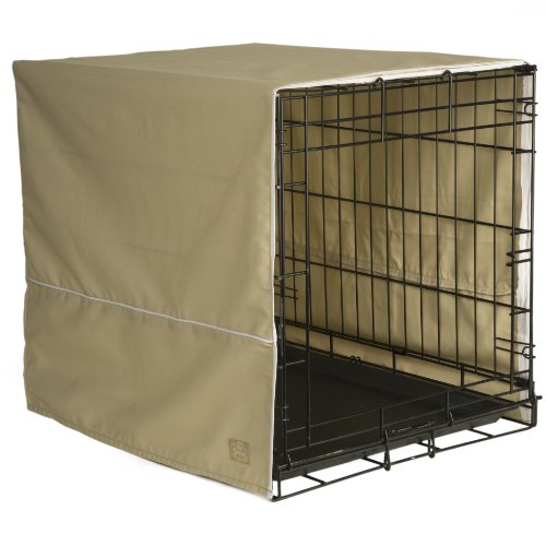 Pet Dreams 24 By 18-Inch Classic Crate Cover, Small, Khaki front-670641