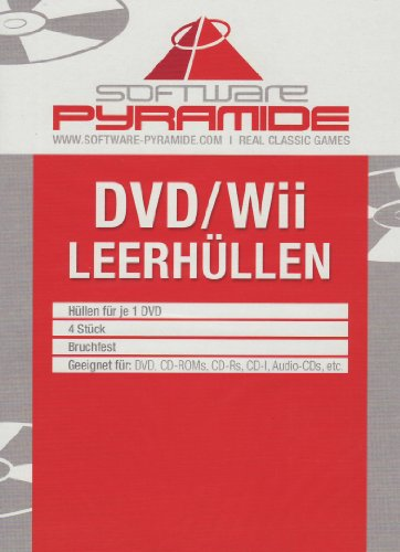 Wii-Leerh&#252;llen 4er-Pack wei&#223; [Software Pyramide], Nintendo Wii