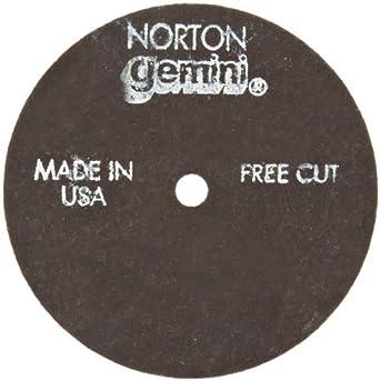 "Norton Gemini Flexible Blending Depressed Center Abrasive Wheel, Type 27, Aluminium Oxide, 7/8"" Arbor, 4-1/2"" Diameter x 1/8"" Thickness, Grit 60 (Pack of 1)"