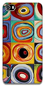 The Racoon Lean Circles - Kandinsky hard plastic printed back case / cover for Huawei Honor 6