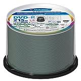 三菱化学メディア Verbatim 録画用 DVD-R DL 片面2層 215分 CPRM対応 8倍速 ワイド印刷対応 ホワイトレーベル スピンドルケース 50枚パック VHR21HP50V1FFP [フラストレーションフリーパッケージ(FFP)]