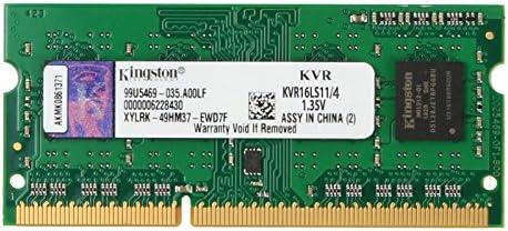 Kingston KVR16LS11/4 - Tarjeta de memoria DDR3L-RAM de 4GB (1600MHz, FBGA)
