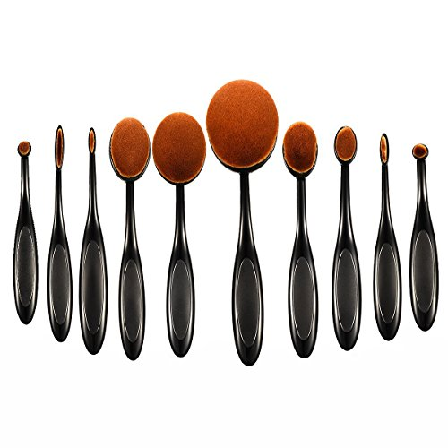 10pcs Makeup Brushes Set, Professional ElleSye Ubeauty Brush Set Powder Foundation Brush Makeup Brush Kit
