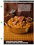McCall's Cooking School Recipe Card: Main Dishes 24 - Fresh-Ham Hocks, Country Style (Replacement McCall's Recipage or Recipe Card For 3-Ring Binders)