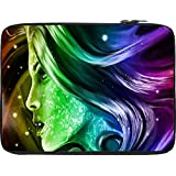 Snoogg Colorful Womans Face 2610 12 To 12.6 Inch Laptop Netbook Notebook Slipcase Sleeve
