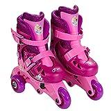 Princess Glitter Junior Size 6 - 12 Kids Convertible 2-in-1 Skates