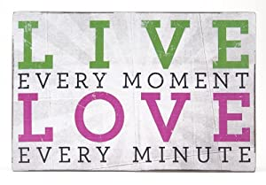 About Face Designs Wooden Wall Décor Plaque, 3.75 by 5.75-Inch, Live every Moment, Love every Minute
