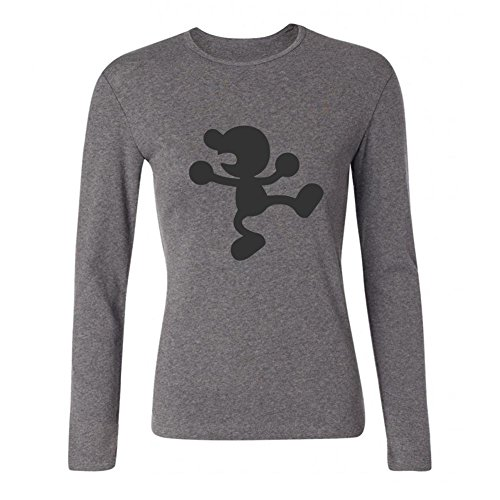 ZHENGXING Women's Super Smash Bros Brawl Mr. Game&Watch Long Sleeve T-shirt XXL ColorName