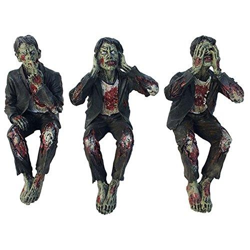 ゾンビ シェルフシッターズフィギュア See No, Hear No Speak No Evil Zombies 見ちゃだめ!聞いちゃだめ!言っちゃだめ!