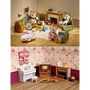 Calico Critters Deluxe Living Room Furniture Accessories 2