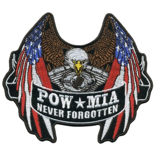 Hot Leathers Pow Flag Eagle Patch (5