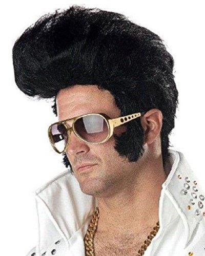 [Popcandy Rock N' Roll Wig Elvis Style] (80s Rock N Roll Costumes)