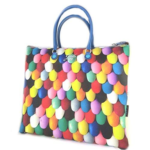3 in 1 sacchetto 'Gabs'multicolore (unghie dipinte)(l)- 43x37x2.5 cm.