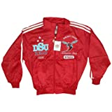 New! Men's Delaware State University Hornets 2 Piece Track-Warm up Suit - Red - Large