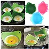 2PCS Silicone Egg Poacher Cook Poach Pods Kitchen Cookware
