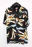 (シュプリーム)SUPREME 【15SS】【Heels Shirt】総柄レーヨンオープンカラー半袖シャツ(M/ブラック×マルチ) 中古