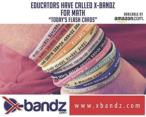 X-Bandz set of 1 - 12 multiplication glow in the dark learning bands - 1