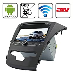 See Rungrace 7.0 inch Android 4.2 Multi-Touch Capacitive Screen In-Dash Car DVD Player for Ssangyong Korando with WiFi / GPS / RDS / IPOD / Bluetooth /ATV Details