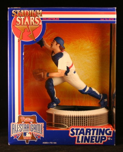 MIKE PIAZZA of the LOS ANGELES DODGERS Starting Lineup Stadium Stars Phillies All Star Game Veterans Stadium 1996