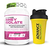 Advance Whey Isolate Protein Powder 1kg (2.2lbs) Vanilla Sugar-free2,400 With Odourfree Spillproof Whey Protein...