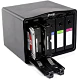iDsonix® 5-Bay 3.5 inch Hard Drive Protective Case Hard Disk Drive Storage Box - Black