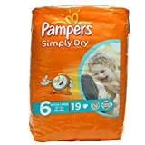 Pampers Simply Dry Nappies Size 6 Extra Large