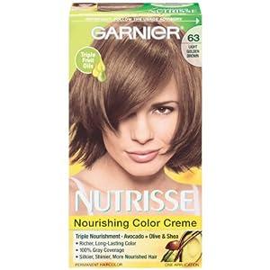 Garnier Nutrisse 63 Light Golden Brown-Brown Sugar: Amazon.co.uk ...
