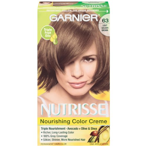 Garnier Nutrisse Nourishing Color Creme With Triple Fruit Oil (63) Light Golden Brown Hair Color
