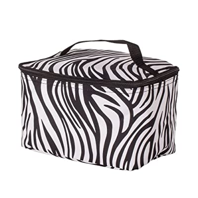 Large Zebra Print Cosmetic Bag