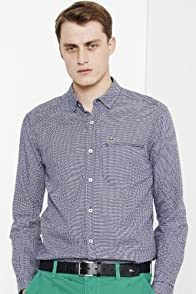 Long Sleeve Airplane Print Woven Shirt