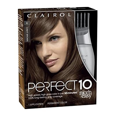 Best Cheap Deal for Clairol Perfect 10 By Nice 'N Easy Hair Color 006 Light Brown Chocolate Shake 1 Kit (Pack of 2) by Clairol - Free 2 Day Shipping Available