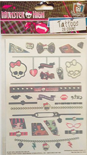 Monster High Tattoos ~ 28 count - 1