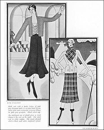 Photographic Print of Skating fashion 1930 from Mary Evans Amazon.co