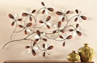 Mirrored Floral Petals Wall Decor