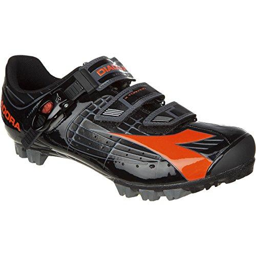 Diadora Men's X-Tornado Mountain Biking Shoe - 159087-C4115 (Black/Red Fluo - 42)