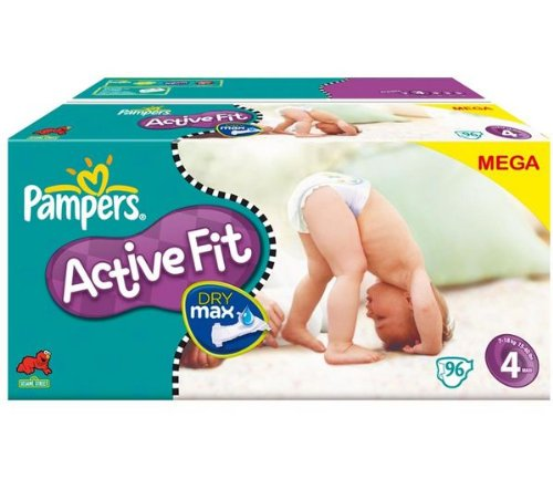 Disposable nappies -Active Fit Nappies Size 4 maxi (7-18 kg) - Megapack 1 x 96 nappies 81261297