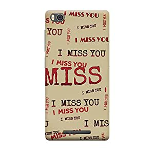 Skintice Designer Back Cover with direct 3D sublimation printing for Xiaomi Redmi Mi4i
