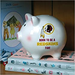 Washington Redskins Memory Company Born to Be Piggy Bank NFL Football Fan Shop Sports Team Merchandise