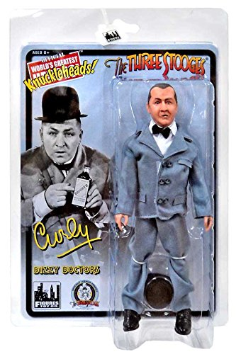 The Three Stooges 8 Inch Action Figures: Dizzy Doctors Curly