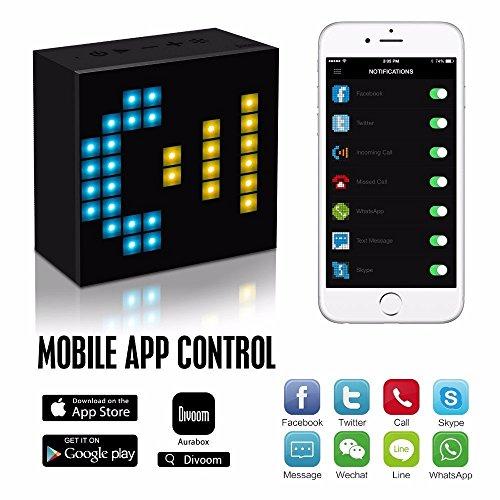 ELEGIANT DIVOOM AURABOX 高音質 Bluetooth スピーカー マルチカラー 持ち運び楽々♪ LEDライト搭載 LEDスマートアラーム時計 ポータブル ファッション 11