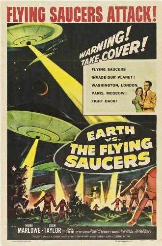 Earth vs. the Flying Saucers POSTER Movie (27 x 40 Inches - 69cm x 102cm) (1956) (Style B)