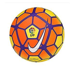 Nike Strike LFP - Balón de fútbol oficial de la LFP, color naranja, blanco, gris, amarillo, tamaño 5