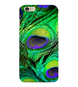 ColourCraft Peacock Feather Design Back Case Cover for APPLE IPHONE 6 PLUS
