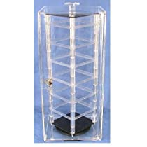 "Hot Sale Locking Revolving Rotating Earrings Display Case Stand Holds 48 2"" Cards"