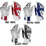 アンダーアーマー Men's UA Yard Batting Gloves バッティンググローブ 両手用 海外モデル ホワイト SM