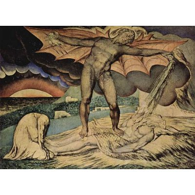 William Blake (Satan pours on the plagues of Job) Art Poster Print - 11x17