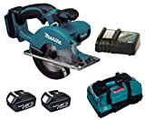 MAKITA 18V LXT BCS550 BCS550Z BCS550RFE CIRCULAR SAW, 2 x BL1830 BATTERIES, DC18RC CHARGER AND LXT400 BAG - PF TRADE