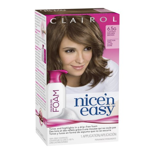 Clairol Nice 'n Easy Color Blend Foam Hair Color 6.5G Lightest Golden Brown 1 Kit
