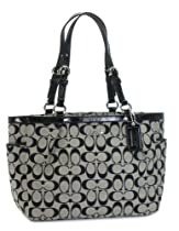 Coach Signature Gallery East West Tote Bag 17725 Black White