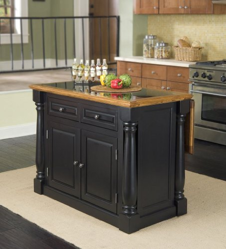Cheap Home Styles 5009-94 Monarch Granite Top Kitchen Island, Black and Distressed Oak Finish (5009-94)